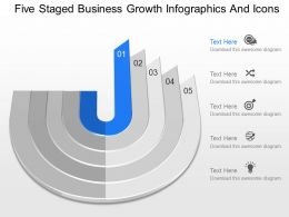 fl Five Staged Business Growth Infographics And Icons Powerpoint Template