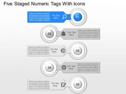 fl Five Staged Numeric Tags With Icons Powerpoint Template