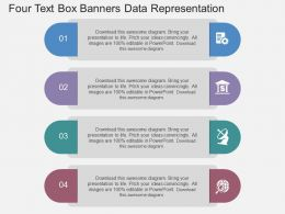 fl Four Text Box Banners Data Representation Flat Powerpoint Design