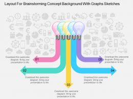 Fl Layout For Brainstorming Concept Background With Graphs Sketches Powerpoint Template