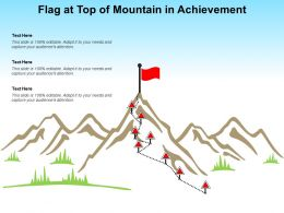 Flag At Top Of Mountain In Achievement