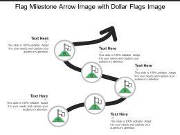 Flag Milestone Arrow Image With Dollar Flags Image