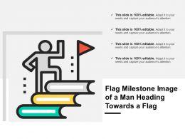 Flag Milestone Image Of A Man Heading Towards A Flag