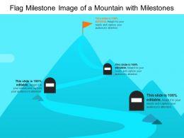 Flag Milestone Image Of A Mountain With Milestones