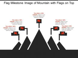 Flag Milestone Image Of Mountain With Flags On Top