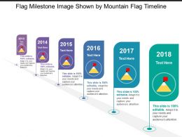 Flag Milestone Image Shown By Mountain Flag Timeline