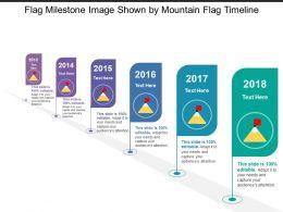Flag Milestone Image Shown By Mountain Flag Timeline