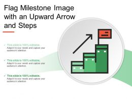 Flag Milestone Image With An Upward Arrow And Steps