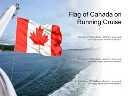 Flag Of Canada On Running Cruise
