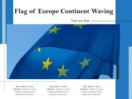 Flag Of Europe Continent Waving