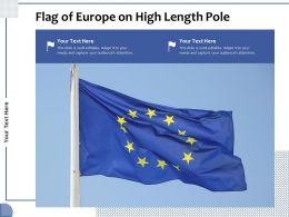 Flag Of Europe On High Length Pole