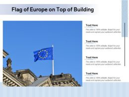 Flag Of Europe On Top Of Building