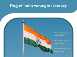 Flag Of India Waving In Clear Sky