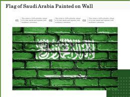 Flag Of Saudi Arabia Painted On Wall