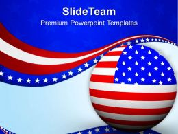 Flag Of USA Is Symbol Of Victory And Patriotism PowerPoint Templates PPT Themes And Graphics 0713
