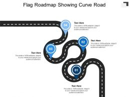 Flag Roadmap Showing Curve Road
