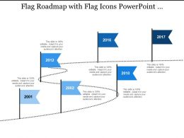 Flag Roadmap With Flag Icons Powerpoint Presentation Examples
