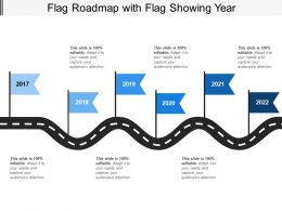 Flag Roadmap With Flag Showing Year