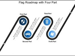 Flag Roadmap With Four Part