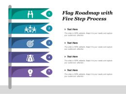 Flag Roadmap With Four Step Process