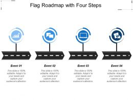 Flag Roadmap With Four Steps