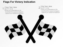 Flags For Victory Indication Flat Powerpoint Design