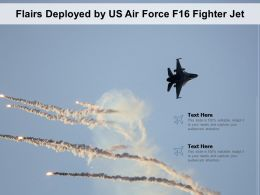 Flairs Deployed By US Air Force F16 Fighter Jet