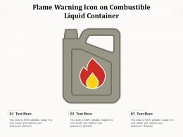 Flame Warning Icon On Combustible Liquid Container
