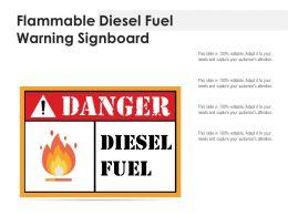 Flammable Diesel Fuel Warning Signboard