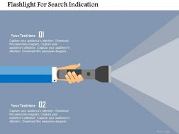 Flashlight For Search Indication Flat Powerpoint Design
