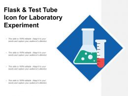 Flask And Test Tube Icon For Laboratory Experiment