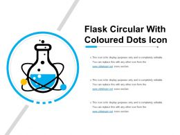 Flask Circular With Coloured Dots Icon