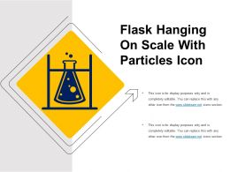 Flask Hanging On Scale With Particles Icon