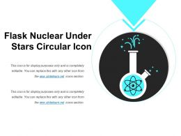 Flask Nuclear Under Stars Circular Icon