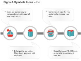 Flask Packet Bucket Carton Ppt Icons Graphics