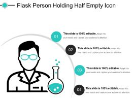 Flask Person Holding Half Empty Icon