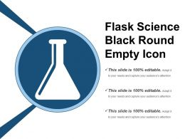 Flask Science Black Round Empty Icon