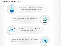 Flask Telescope Scissor Nuclear Configuration Ppt Icons Graphics