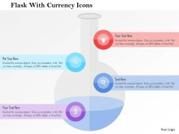 Flask With Currency Icons Flat Powerpoint Design