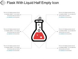 Flask With Liquid Half Empty Icon