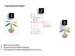 Flask With Testtubes For Chemical Reaction Flat Powerpoint Desgin