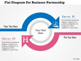 Flat Diagram For Business Partnership Flat Powerpoint Design