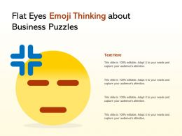 Flat Eyes Emoji Thinking About Business Puzzles