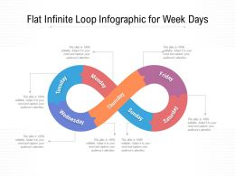 Flat Infinite Loop Infographic For Week Days
