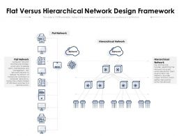Flat Versus Hierarchical Network Design Framework