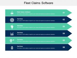 Fleet Claims Software Ppt Powerpoint Presentation Model Rules Cpb