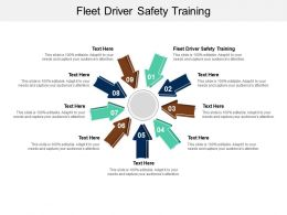 Fleet Driver Safety Training Ppt Powerpoint Presentation Professional Styles Cpb