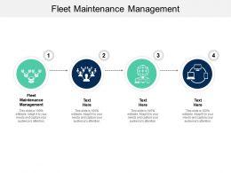Fleet Maintenance Management Ppt Powerpoint Presentation Summary Vector Cpb