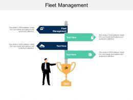 Fleet Management Ppt Powerpoint Presentation Icon Structure Cpb