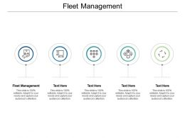 Fleet Management Ppt Powerpoint Presentation Pictures Templates Cpb